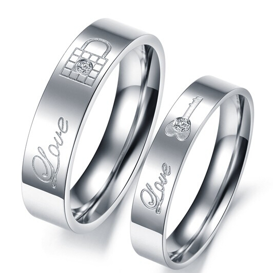 get quotations stainless steel mens womens rings forever love wedding bands engagement promise ring sets couple rings full - Cheap Mens Wedding Rings