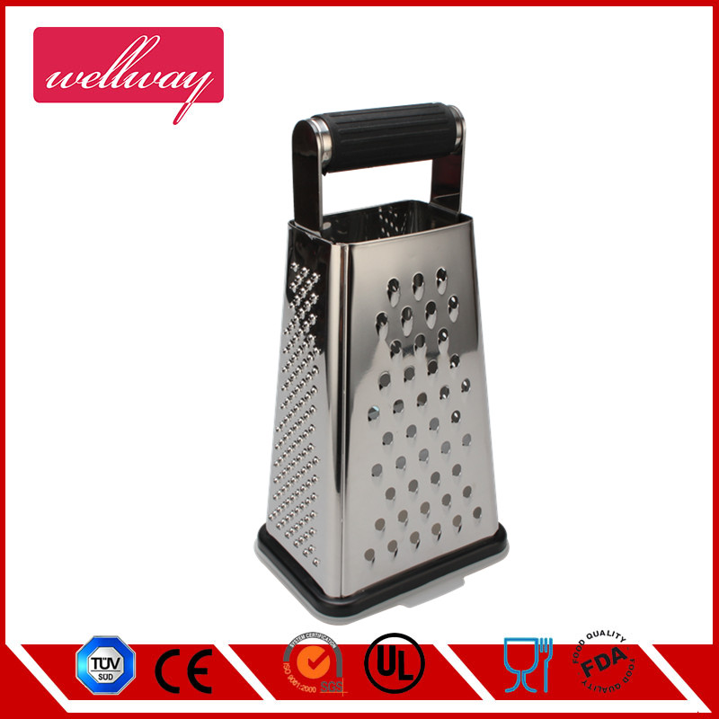 4 Sides Stainless Steel Grater Box, Large,With non-slip handle