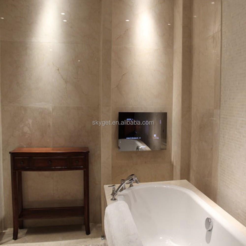 Salle De Bain Marbre Beige Et Bois ~ 55 polegada de douche miroir tv salle de bain tanche tv t l viseur