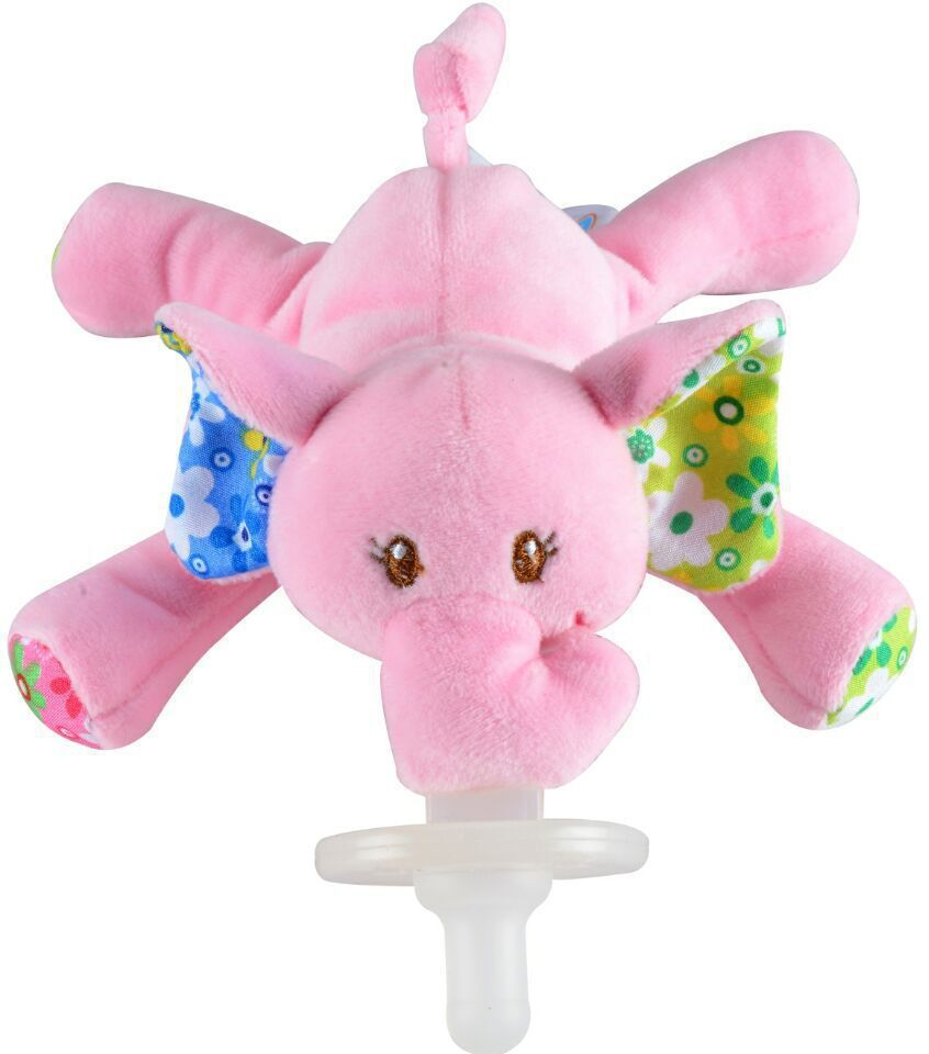 Infant soft toys plush toys for infant pacifier holder animal soft toys elephant pacifier