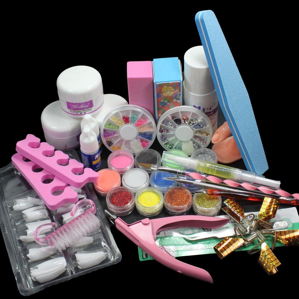 gel nail polish set gel kit 36w nail art diy tools base topcoat cleanser buffer glue remover. Black Bedroom Furniture Sets. Home Design Ideas