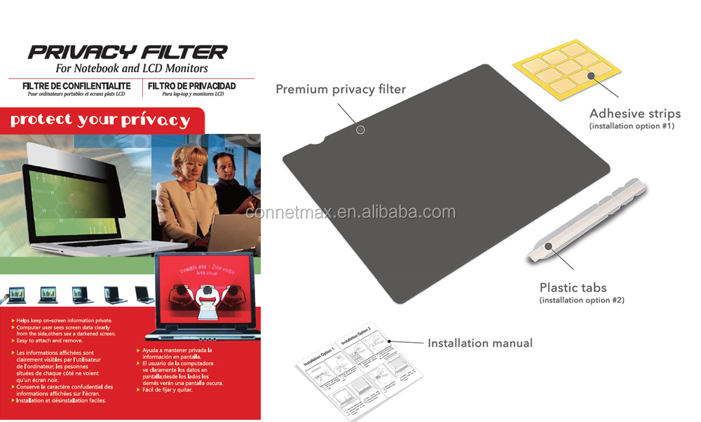 Sample Support 2019  Amazon New Anti Glare Removable Laptop Privacy Filter For All Macbooks /  ATM /Computer