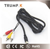 Chinese Manufacturer 9 pin Mini Din Male to 3RCA Female Cable Din Cables to RCA Cable
