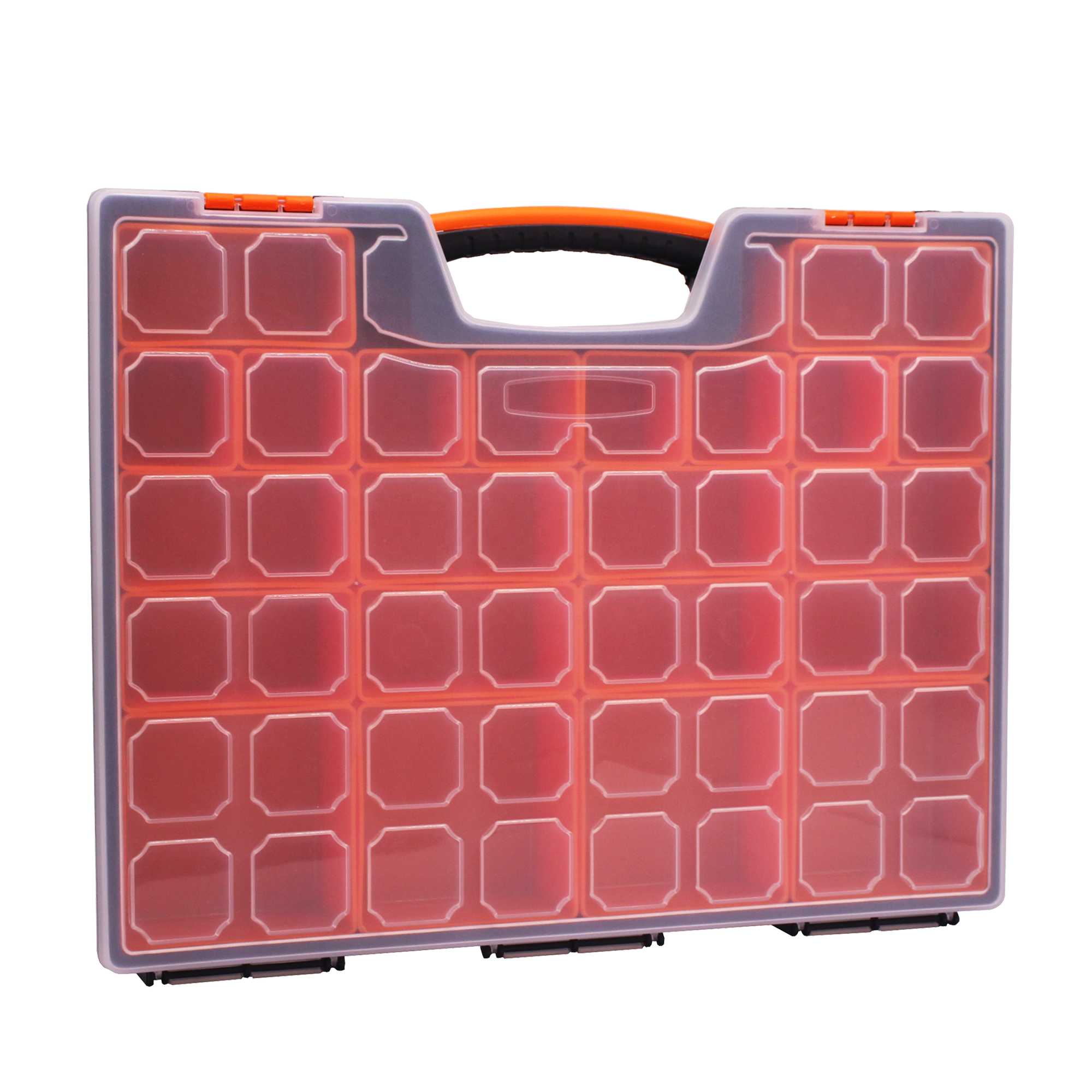 Portable Carry Case with 22-Removable Bins Storage Boxes Plastic Organize Screws Small Parts Tools