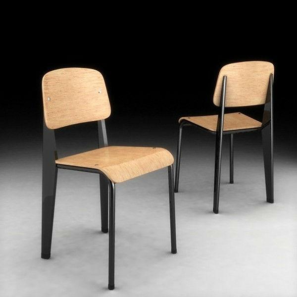 triumph jean prouvé conçu replica standard chaise-chaises en métal ... - Chaise Jean Prouve Prix