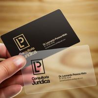 free sample CR80 Customized printing frosted plastic business cards