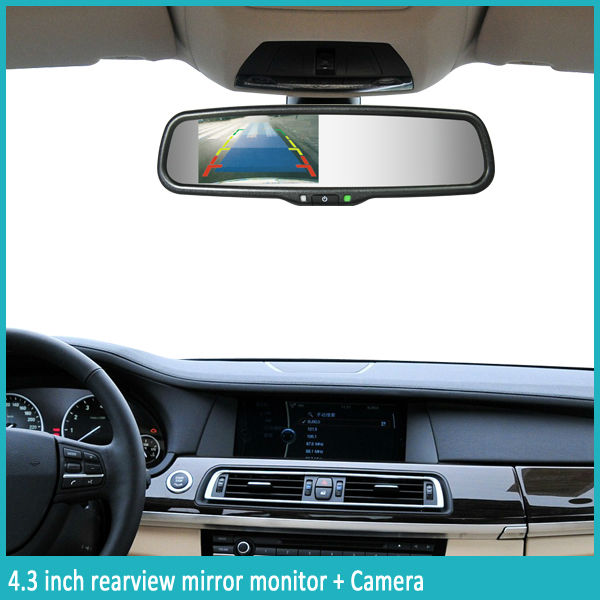 4.3inch rearview mirror monitor wider screen for super vision angle for old men