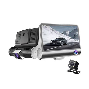 Factory supply hot Car Camera 3 Triple Lens 4.0inch screen 1080p front and rear view dash cam
