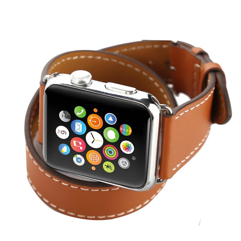 Leather Watch Bands Strap for Apple Iwatch,for apple iwatch link Bracelet Band 38mm/42mm, Brown;red;blue
