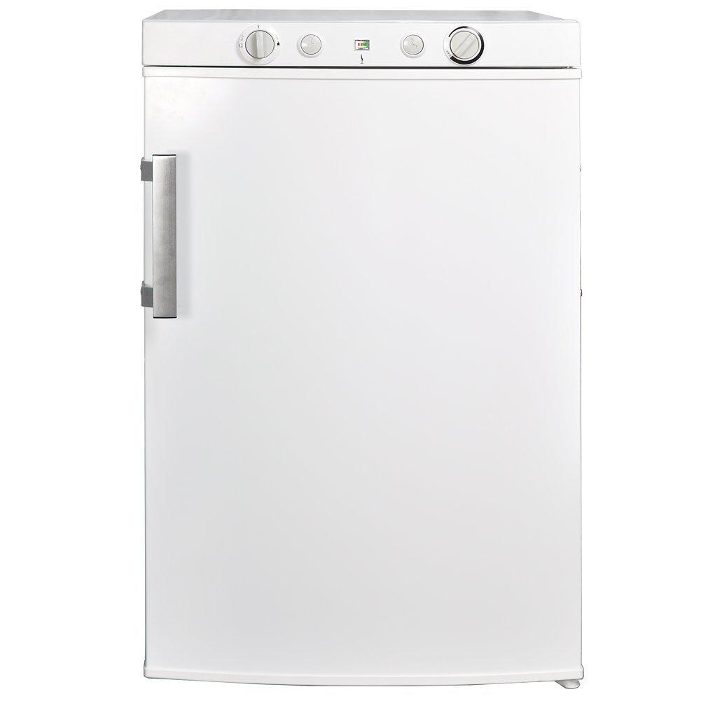 SMETA 3.4 cu ft 110V 12V Propane Refrigerator Freezer Electric Gas Fridge Home Hotel Mini Bar Cooler,White