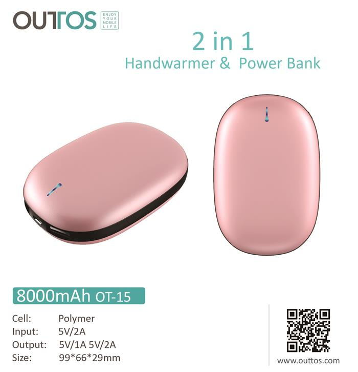 2019 hot selling 8000mAh mini hand warmer usb charging power bank hand warmer