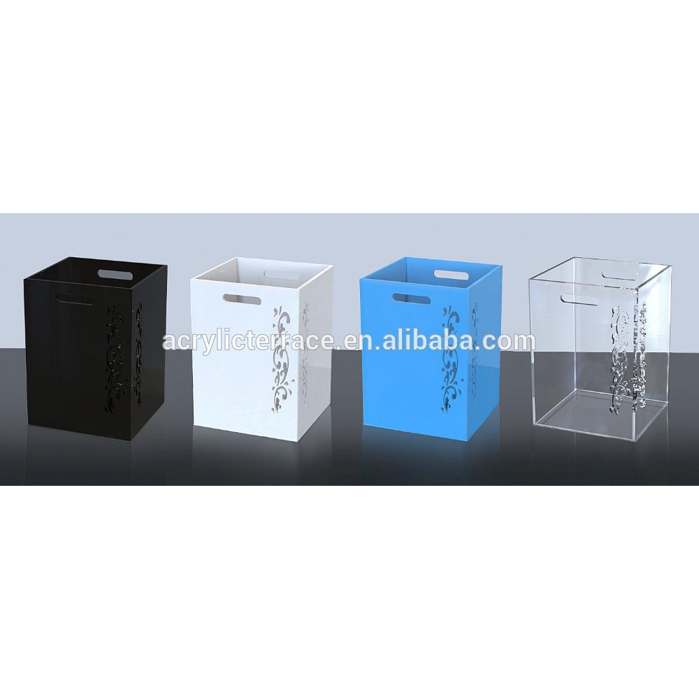 Lucite Waste Paper Basket,Acrylic Storage Box,Acrylic Magazine ...