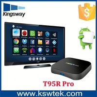 2017 NEW Brand T95R Pro s912 3GB+32GB cable card set top box Manufacturer dual WIFI KODI TV BOX