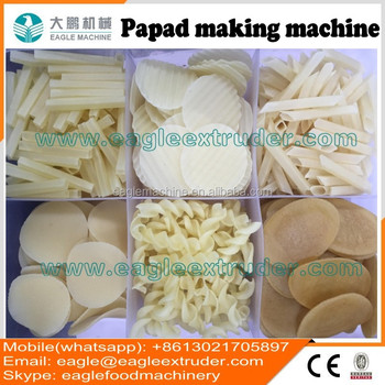Jinan eagle potato starch based papad snack pellet chipsmaking machine produce line manufacturer
