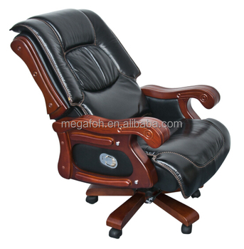 Brilliant Luxury Black Genuine Leather Executive Swivel Gas Lift Cylinder Inclinable Chair With Wheels Wooden Armrest Foh 1238 Buy Tiltable Leather Gmtry Best Dining Table And Chair Ideas Images Gmtryco