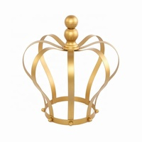 birthday or housewarming gift home decor royal cake crown metal candle holder