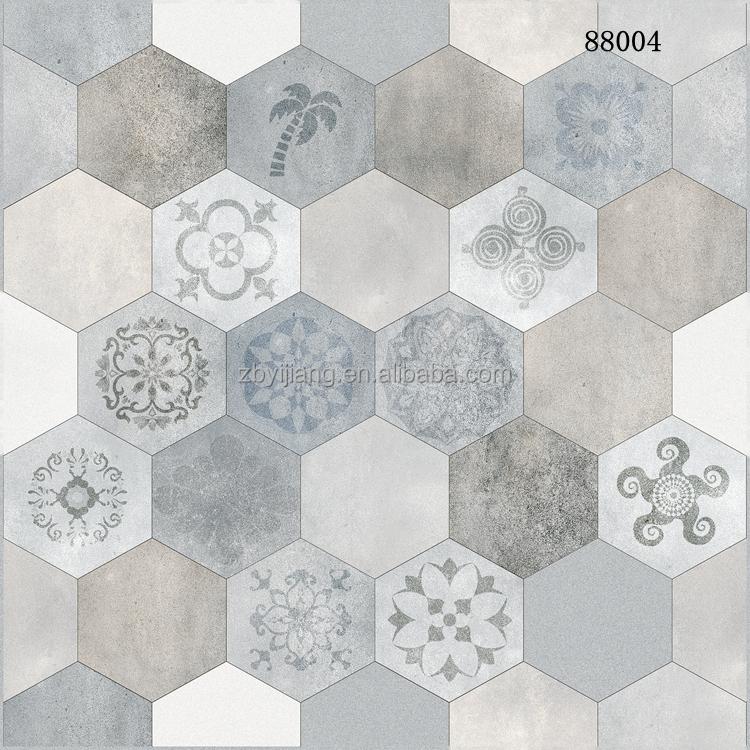 zibo azulejo hexagonal especial caliente piso de baldosas