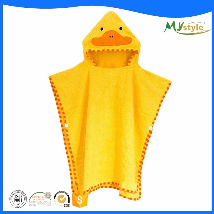 Custom Cheap lovely animal cotton baby bath towel baby robe kids hooded towels