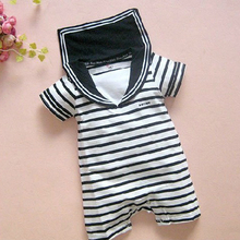 Toddler Baby Kids Striped Sailor Style Romper Short Sleeves Jumpsuit 0 3Y