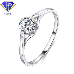 Unique Wholesaler Gold Jewelry 18K Solid AU750 White Gold Engagement Ring