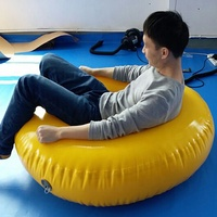 Customized adult inflatable PVC swimming floater swimming ring towable inflatable swim ring for pool