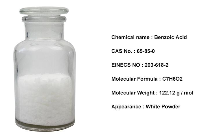 Fabrik Direkt benzoesäure chemische struktur formel C7H6O2
