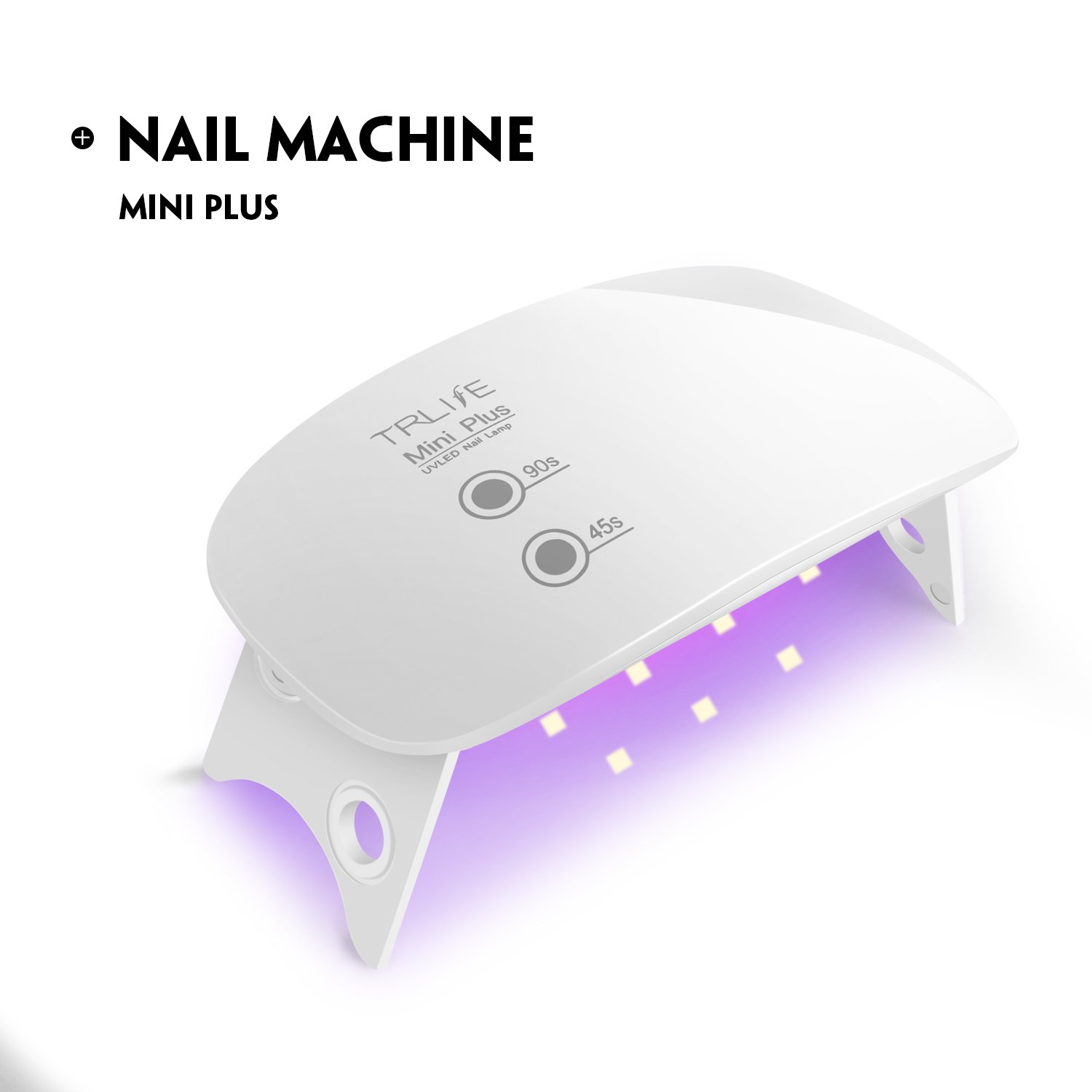 LED UV Nail Lamp Usb 5W Mini Nail Dryer Curing Gel Based Polishes Professionally with 2 Timer Settings 45s/90s White