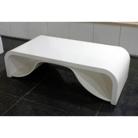 Thermoform pure white 100% solid surface for tops