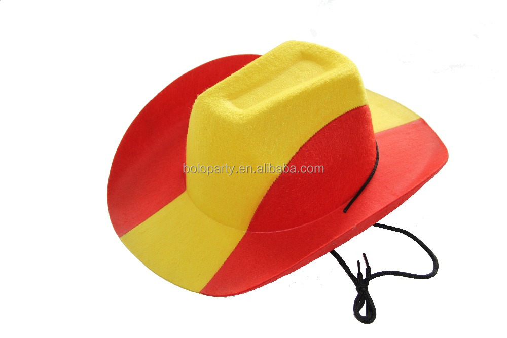 bceaa04101c4c Chapéu de cowboy com o Espanhol espanha nação bandeira EVA cap reunindo