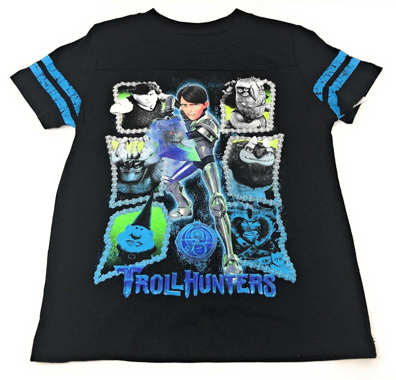 c03ce116 Get Quotations · Dreamworks Troll Hunters Short Sleeve Boys' Graphic T-Shirt