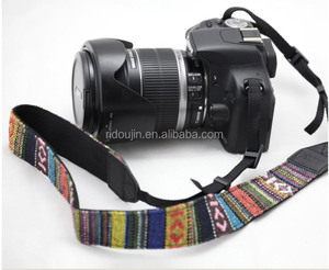Folk custom colourful ribon camera neck should wrist strap