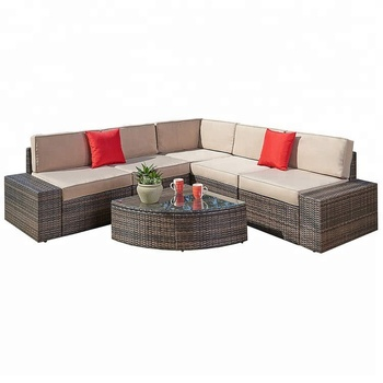 Astonishing 6 Pcs Rooms To Go Outdoor Furniture Rattan Wicker Furniture Sectional Sofa Set With Quarter Round Wedge Table Buy Outdoor Wicker Furniture Sectional Ibusinesslaw Wood Chair Design Ideas Ibusinesslaworg