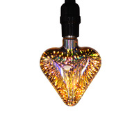 Decorative Colorful Led 3D Fireworks Bulb Lamp E27