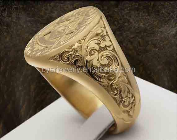 Mens Signet Ring Shiny Gold 10k Gold 14k Gold Ring Buy Gold Signet
