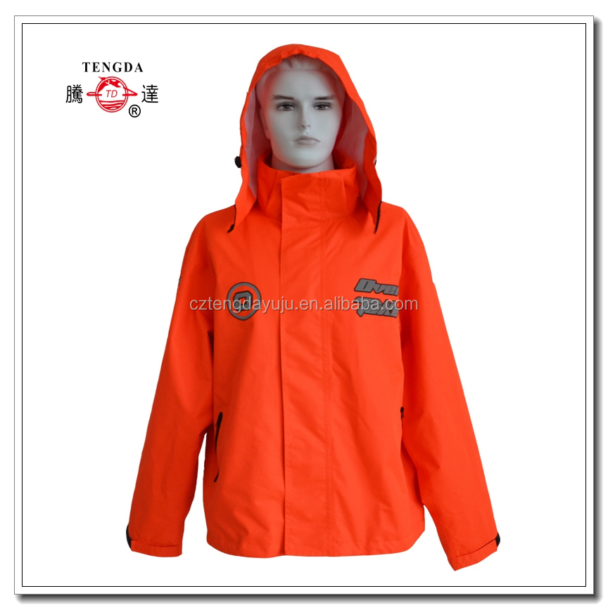 waterproof orange motor bike rain jacket