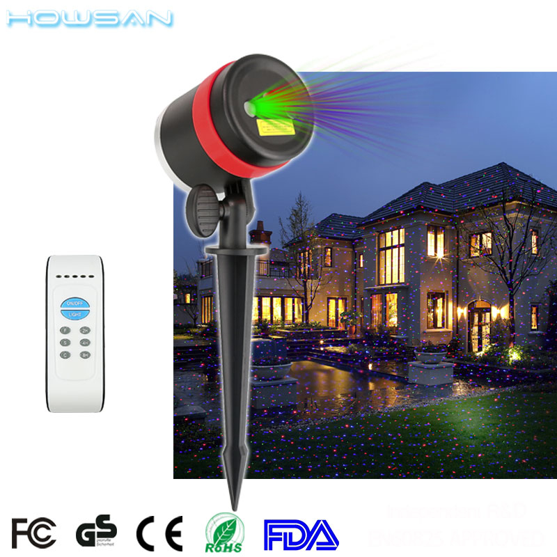 Self design plug in night light projector RF remote control RGB elf garden laser light for xmas