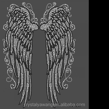 527ace58 Angel Wing Rhinestone Transfer Hotfix Motif Design Factory Wholesale ...