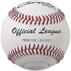 Champion Sports Leather Baseball Set: Dozen Indoor / Outdoor Genuine Leather Official League Baseballs for Practice Training or Real Game - Pack of 12