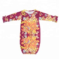 Toddlers Rompers Kids Girls Floral Gown Bulk Wholesale Sleepsuits