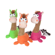 Pet Toys Puppy Dog Lovely Toy Sound Chew Squeaker Little Horse Resistant Bite Pet Supplies Squeaky Plush