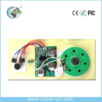 Recordable Sound Module/ Custom Voice Reorder Chip For Greeting Card