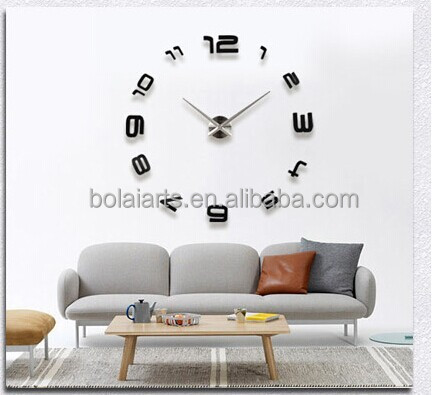 Large 3D Decor Wall Sticker Diy Clock