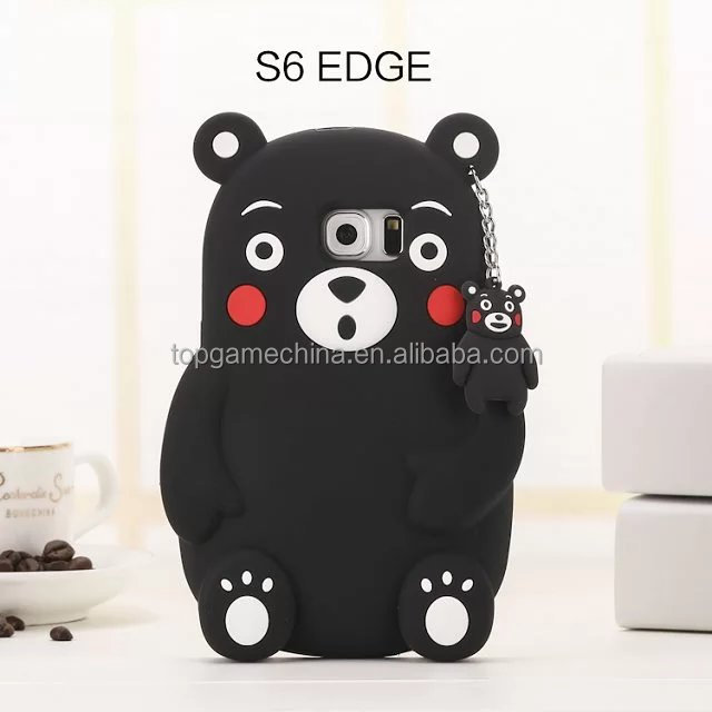 3D Kuma moto bear soft Silicon Rubber Back <strong>Case</strong> cover for <strong>Samsung</strong> Galaxy <strong>s6</strong> <strong>edge</strong> <strong>case</strong>