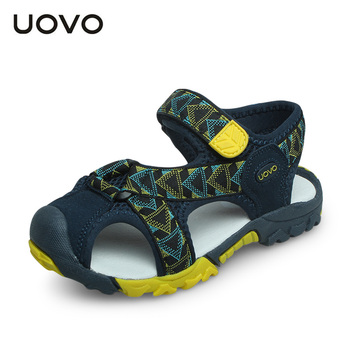 3cc5cc380 UOVO 2017 summer kids shoes brand closed toe toddler boys sandals  orthopedic footwear pu leather baby boys sandals cool shoes
