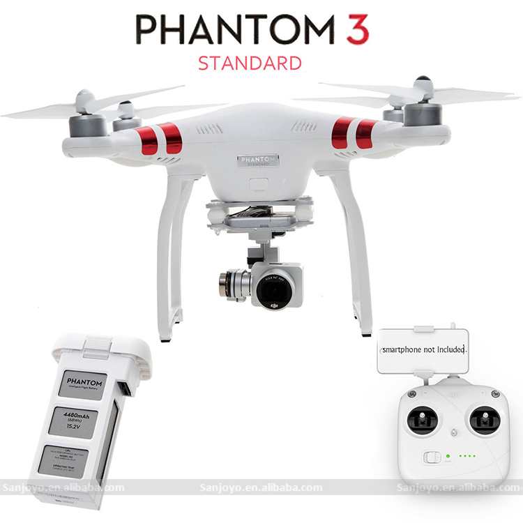 Original Dji Phantom 3 Standard Review Fpv Drone With 12mp Camera ...