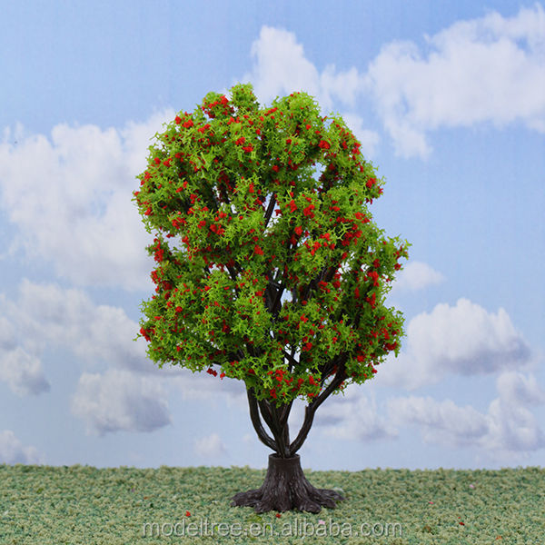 wholesale 3/pk Z N scale plastic miniature model railroad trees perfect for scale models and train layouts
