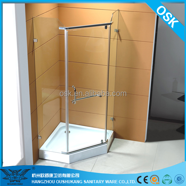 Tempered glass 3 sided shower enclosure OSK-827