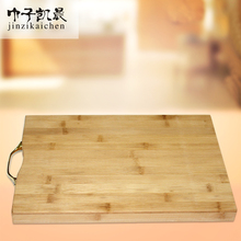 New Design Flexible Bamboo Wood Cutting Cheese Board with Metal Handle