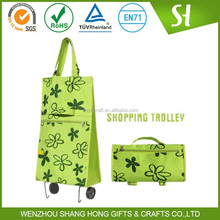 striped shopping bag/pictures printing non woven shopping bag/reusable eco shopping bag pink