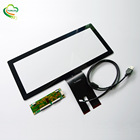 Custom long shape CTP multi touch 12.3 inch capacitive touch panel with usb i2c RS232